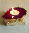 Garnet Agate Tealight Holder