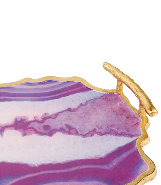 Pink Agate Tray