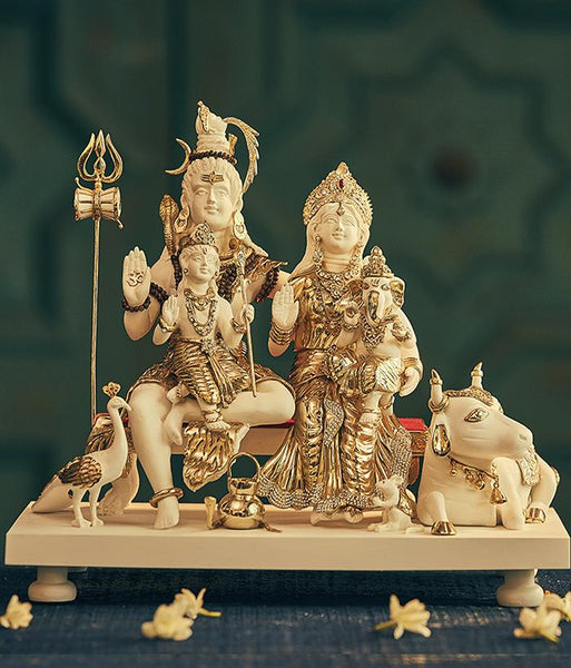 Shiv Parivar with Nandi Idol