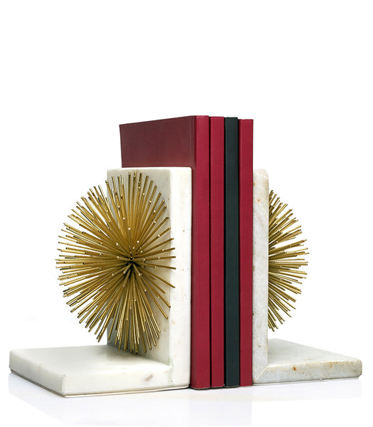 Starburst White Bookend