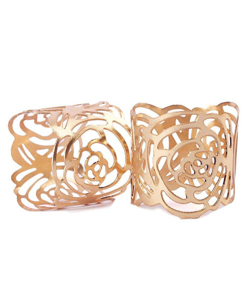 Rose Napkin Rings - set of 2