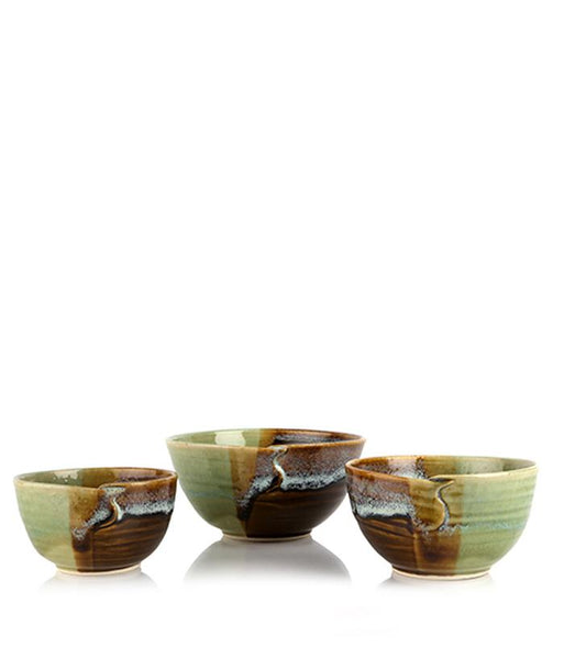 Turn Leaf Cut Bowl set