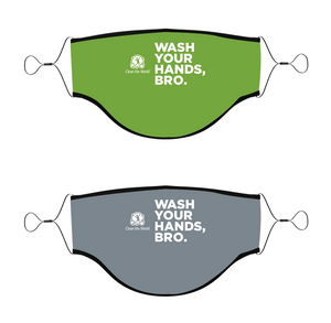 3-Ply Wash Your Hands, Bro Mask with Adjustable Straps