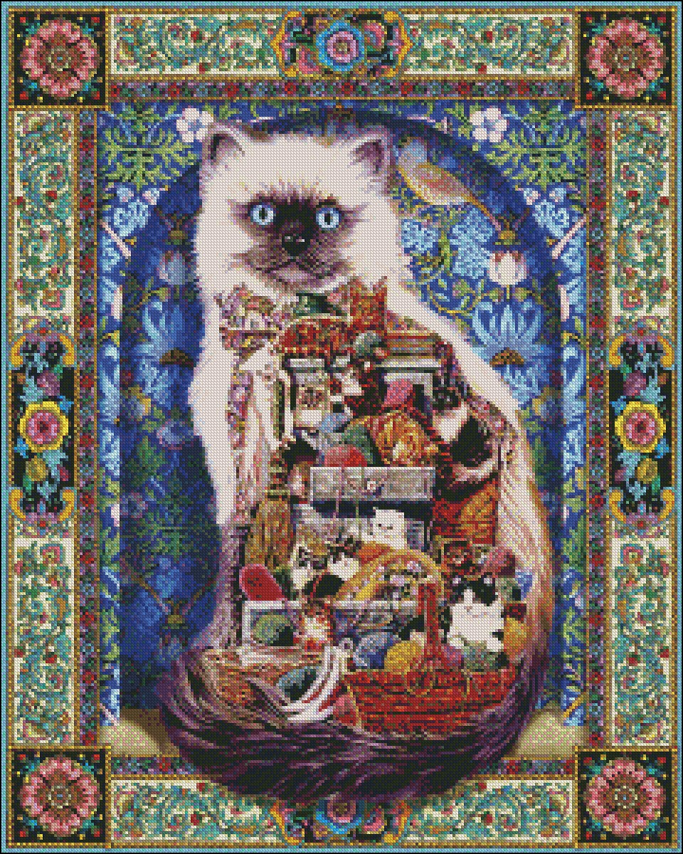 Cats Galore  Cross-stitching PDF Pattern