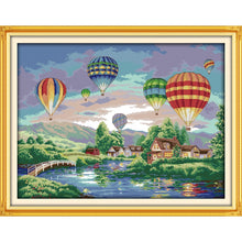 Load image into Gallery viewer, Colorful balloons Cross-Stitch Kit