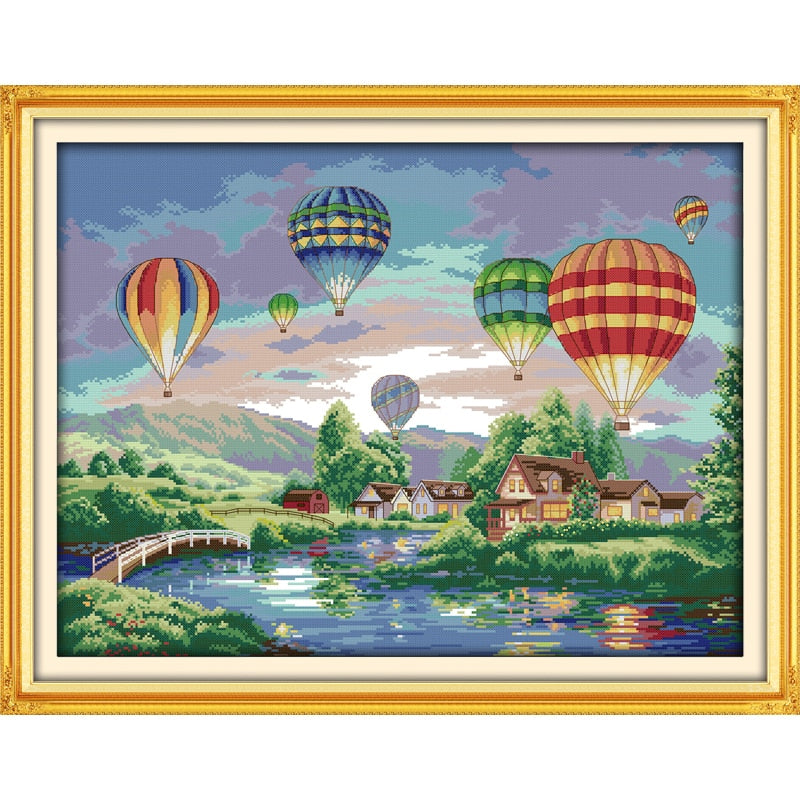 Colorful balloons Cross-Stitch Kit