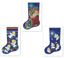 Load image into Gallery viewer, Angels X-mas Stocking Cross-Stitch Kit