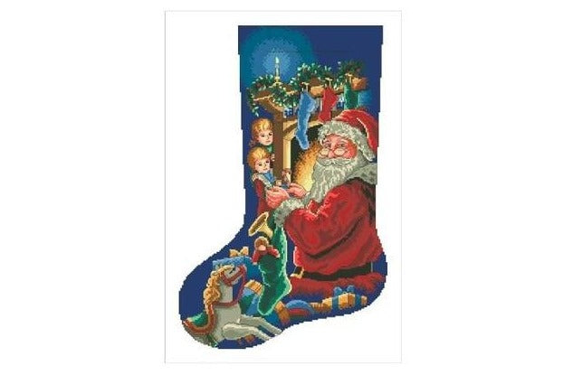 Angels X-mas Stocking Cross-Stitch Kit