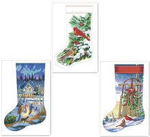 Load image into Gallery viewer, X-mas Stocking Cross-Stitch Kit