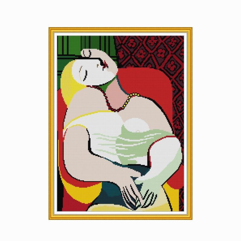 Picasso Printed Cross Stitch Kit