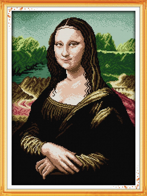 Mona Lisa Printed or Counted Cross Stitch Kit