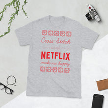Load image into Gallery viewer, Cross Stitch and Netflix Make Me Happy