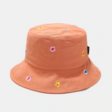 Embroidered Flower Bucket Hat