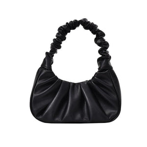 Women Hobo Pleated Tote Bag Candy Color Underarm Bag Small Handbag And Purses Shoulder Bag - SaturnLoop Shops Sales