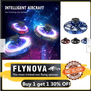 Flynova Athletic antistress hand mini flying toy Gyro rotator drone UFO led fidget finger spinner Rotary child christmas gift