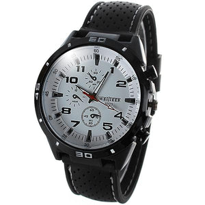 Weijieer 5020 Male Quartz Watch Round Dial Rubber Strap Non-functioning Sub-dials - SaturnLoop Shops Sales