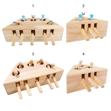 Load image into Gallery viewer, Cat Toy  Solid Wooden Interactive Maze Pet Hit Hamster With Five Holes Mouse Hole Catch Bite Catnip Funny Toy - SaturnLoop Shops Sales