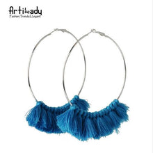 Load image into Gallery viewer, Artilady tassel hoop earrings vintage for  women - SaturnLoop Shops Sales