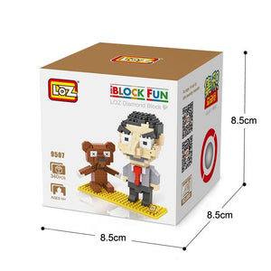 LOZ Diamond Building Blocks Mr. Bean Figure Model DIY Assemblage Toy Children Educational For Ages 14+ - SaturnLoop Shops Sales