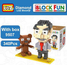 Load image into Gallery viewer, LOZ Diamond Building Blocks Mr. Bean Figure Model DIY Assemblage Toy Children Educational For Ages 14+ - SaturnLoop Shops Sales