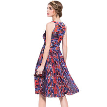 Load image into Gallery viewer, Sleeveless A Line Printed Dress - SaturnLoop Shops Sales