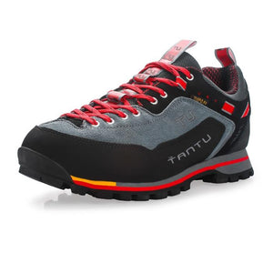 TANTU Genuine Leather Hiking Shoes Water-resistant Outdoor Trainers - SaturnLoop Shops Sales