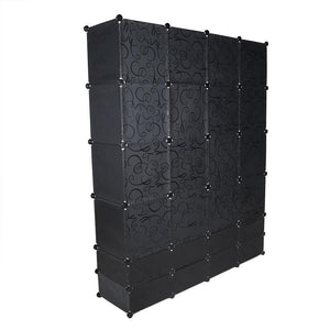 Multi-use 24 Cube Clothes Closet Modular Wardrobe - SaturnLoop Shops Sales
