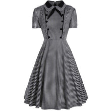 Load image into Gallery viewer, Plus Size Plaid A Line Midi Dress - SaturnLoop Shops Sales