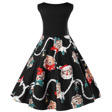Load image into Gallery viewer, Christmas Plus Size Kitten Swing Dress - SaturnLoop Shops Sales