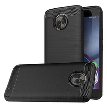 Load image into Gallery viewer, Naxtop Carbon Fiber Textured TPU Shatter-resistant Soft Protective Cover Case for Moto X4 - SaturnLoop Shops Sales