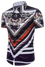 Load image into Gallery viewer, Chain Geometric Floral Print Shirt - SaturnLoop Shops Sales