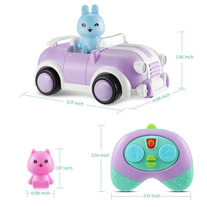 YiXinToy 8021E 2.4GHz Cartoon Race Car Toy with Light / Sound / Music Effects - SaturnLoop Shops Sales
