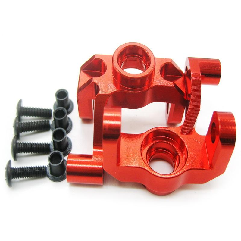 0005 Aluminum Steering Hub Carrier Knuckle for WLtoys 12428 12423 1/12 Scale RC Crawler Car 2pcs - SaturnLoop Shops Sales