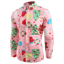Load image into Gallery viewer, Christmas Theme Print Button Up Shirt - SaturnLoop Shops Sales