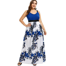 Load image into Gallery viewer, Plus Size Sleeveless Floral Print Maxi Dress - SaturnLoop Shops Sales