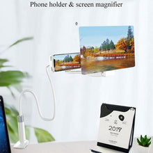 Load image into Gallery viewer, Mobile Phone High Definition Projection Bracket Adjustable Flexible All Angles Phone Tablet Holder 3D HD Screen Magnifier - SaturnLoop Shops Sales