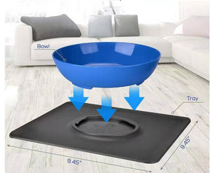 Silicone suction bowl mat non-slip pet bowl non-slip collapsible dog bowl mat and sucker feet silicone food caps 30D6 - SaturnLoop Shops Sales