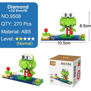 LOZ Kerokero Keroppi 3D Model Action Figure Kerokerokeroppi Toy Diamond Building Blocks Lovely Cute Frog 14+ Kids Toys - SaturnLoop Shops Sales