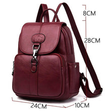 Load image into Gallery viewer, Multifunction Women Leather Backpack For Lady School Bag Shoulder Sac A Dos Travel Back pack Rucksacks - SaturnLoop Shops Sales