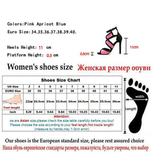 Sexy Women Sandals Hollow out Buckle Strap High Heels Bridesmaid Bridal Wedding Pumps Sandals - SaturnLoop Shops Sales