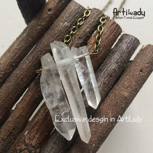 Load image into Gallery viewer, Artilady natural crystal raw quartz pendant necklace - SaturnLoop Shops Sales