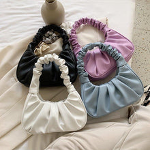 Load image into Gallery viewer, Women Hobo Pleated Tote Bag Candy Color Underarm Bag Small Handbag And Purses Shoulder Bag - SaturnLoop Shops Sales