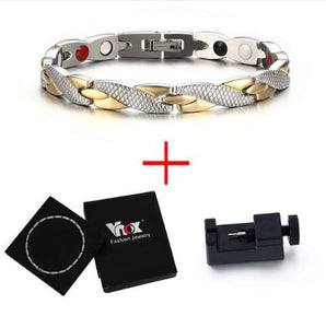 Vnox Twisted Magnetic Bracelet for Women Men - SaturnLoop Shops Sales