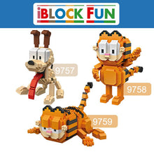 Load image into Gallery viewer, LOZ Garfield Odie Orange Cat Dog Cartoon Character of American Building Diamond Blocks Figure Toy For Age 14+ - SaturnLoop Shops Sales