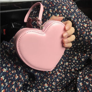 Samll Wallet For Women Red Heart Organizer Coin Purse Fashion Leather Mini Clutch Bag Cute Student Money Purse - SaturnLoop Shops Sales