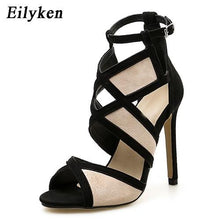 Load image into Gallery viewer, Sexy Women Sandals Hollow out Buckle Strap High Heels Bridesmaid Bridal Wedding Pumps Sandals - SaturnLoop Shops Sales