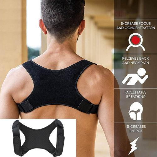 New Spine Posture Corrector Protection Back Shoulder Posture Correction Band Humpback Back Pain Relief Corrector Brace - SaturnLoop Shops Sales