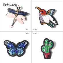 Load image into Gallery viewer, Artilady embroidery bird catus brooch pins lovely butterfly design - SaturnLoop Shops Sales
