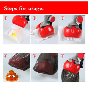 2 In 1 Pet Pooper Scooper +(1 Lot=20Pcs)Poop Bags Set Dog Cat Outdoor Waste Cleaning Poop Shit Pickup Remover Pooper Bags - SaturnLoop Shops Sales