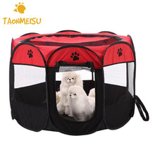 Load image into Gallery viewer, 8-side Foldable Pet tent Dog House Cage Dog Cat Tent Playpen Puppy Kennel Easy Operation Octagonal Fence